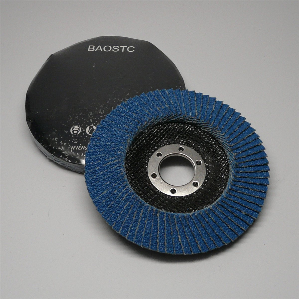 BAOSTC 4 ½ Inch P80 Zirconia oxide flap disc for angle grinder